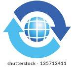 rotate | Shutterstock .eps vector #135713411