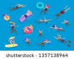 people family and children in... | Shutterstock .eps vector #1357138964