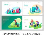landing page template with...   Shutterstock .eps vector #1357139021