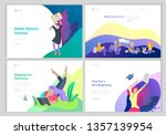 set of web page design... | Shutterstock .eps vector #1357139954