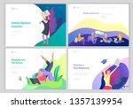 set of web page design... | Shutterstock .eps vector #1357139954