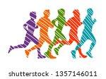 running marathon  people run  ... | Shutterstock .eps vector #1357146011