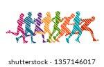 running marathon  people run  ... | Shutterstock .eps vector #1357146017