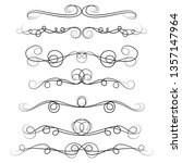 ornament frames and scroll... | Shutterstock .eps vector #1357147964