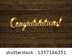congratulations   hand drawn... | Shutterstock . vector #1357166351