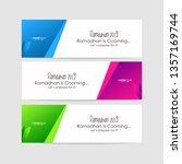 ramadan kareem greeting...   Shutterstock .eps vector #1357169744