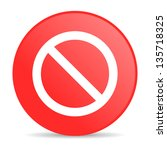access denied red circle web... | Shutterstock . vector #135718325