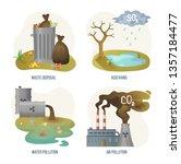 Environmental Problems Vector ...