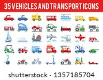 35 vehicle and transport... | Shutterstock .eps vector #1357185704