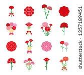 carnation icon set | Shutterstock .eps vector #1357189451