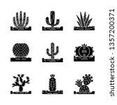 wild cactuses on ground glyph... | Shutterstock .eps vector #1357200371