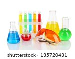 test tubes with colorful... | Shutterstock . vector #135720431