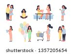 pregnant woman. pregnancy... | Shutterstock .eps vector #1357205654