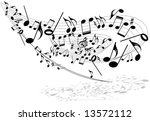 music theme whirl | Shutterstock .eps vector #13572112