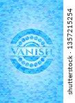vanish light blue emblem with... | Shutterstock .eps vector #1357215254