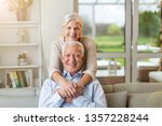 portrait of happy senior couple ... | Shutterstock . vector #1357228244