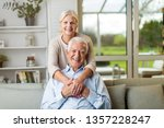 portrait of happy senior couple ... | Shutterstock . vector #1357228247