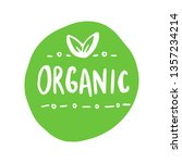 organic products icon  food... | Shutterstock .eps vector #1357234214