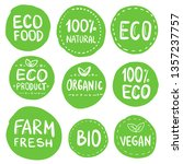 green eco food labels. health...   Shutterstock .eps vector #1357237757