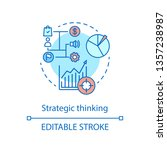 strategic thinking concept icon.... | Shutterstock .eps vector #1357238987