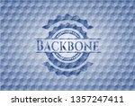 backbone blue badge with... | Shutterstock .eps vector #1357247411