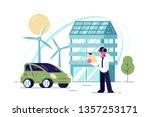 green energy technologies... | Shutterstock .eps vector #1357253171