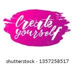 create yourself motivation... | Shutterstock .eps vector #1357258517