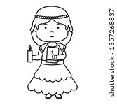 little girl with holy bible...   Shutterstock .eps vector #1357268837