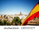 Seville Cathedral With Spain...