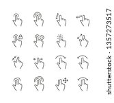 touch gestures related icons ... | Shutterstock .eps vector #1357273517