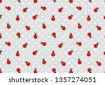 Funny Ladybugs Seamless Pattern....