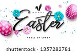 happy easter illustration with...   Shutterstock .eps vector #1357282781