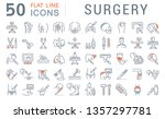 set of line icons of surgery... | Shutterstock . vector #1357297781
