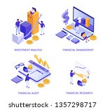 financial concept banners. can... | Shutterstock .eps vector #1357298717
