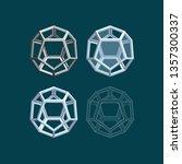 regular polyhedron.... | Shutterstock .eps vector #1357300337
