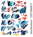 colorful paint brush stroke set.... | Shutterstock . vector #1357306877