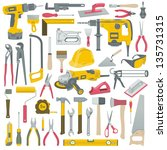 tools set | Shutterstock .eps vector #135731315