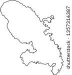 martinique. map region of france | Shutterstock .eps vector #1357316387