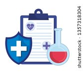 medical order with shield and... | Shutterstock .eps vector #1357318304