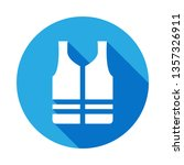 life vest icon with long shadow.... | Shutterstock .eps vector #1357326911