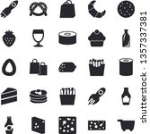 solid vector icon set   cake... | Shutterstock .eps vector #1357337381