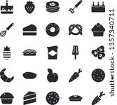 solid vector icon set   cake... | Shutterstock .eps vector #1357340711