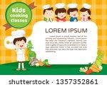 kids cooking class certificate... | Shutterstock .eps vector #1357352861