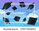 hooray festive banner design.... | Shutterstock .eps vector #1357356851