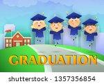 graduation poster design.... | Shutterstock .eps vector #1357356854