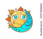 the sun and the moon in the... | Shutterstock .eps vector #1357360601