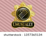 gold shiny badge with keyboard ... | Shutterstock .eps vector #1357365134
