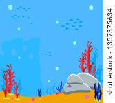 sea bottom cartoon game vector... | Shutterstock .eps vector #1357375634