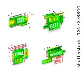 abstract mega sale flat badges... | Shutterstock .eps vector #1357378844