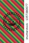 boggle christmas badge. | Shutterstock .eps vector #1357380077